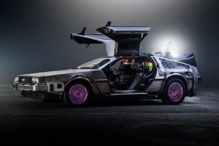 El DeLorean de Marty McFly en Regreso al futuro