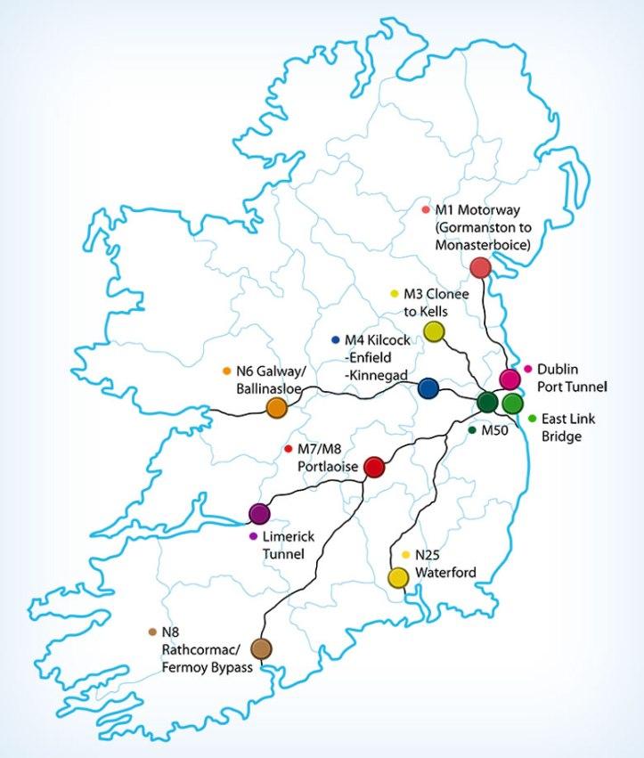 Cómo funciona el telepeaje peaje en Irlanda