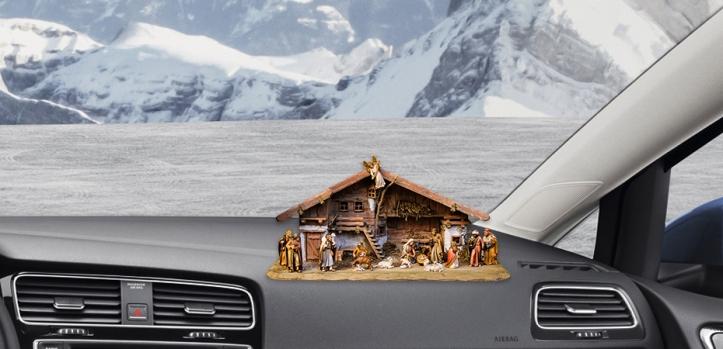 Adornos de navidad para coche Belén