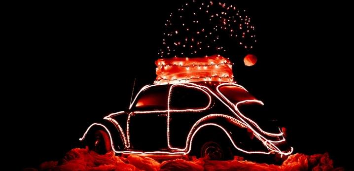 Adornos de navidad para coche Luces 1