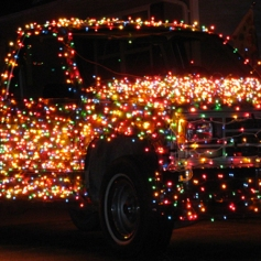Adornos de navidad para coche Luces 2