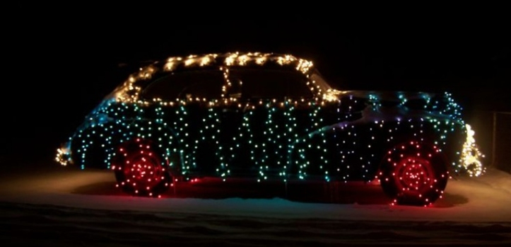 Adornos de navidad para coche Luces 4