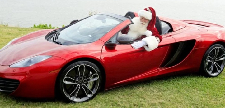 Adornos de navidad para coche Santa Claus
